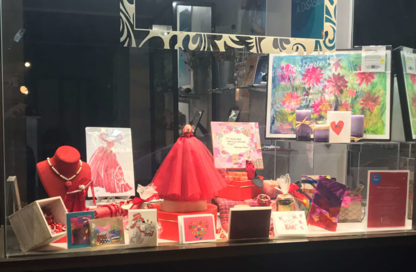 Celebrating Valentines Day at Helpers Artisan Boutique